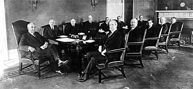 American banking families at a table